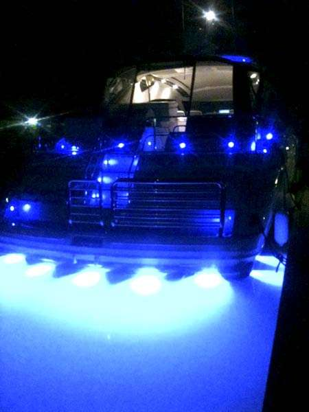 yacht with blue led lights - underwater-lights usa, Reel Combo