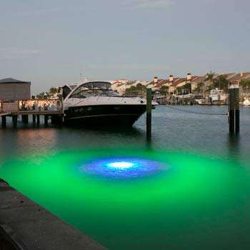 blue/green led dock light