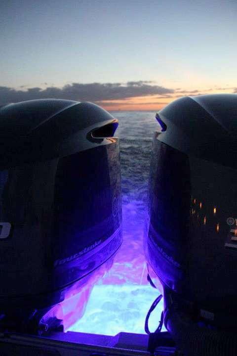 Ultra-Blue LED transom lights