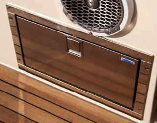 SS frig drawer boat fridge