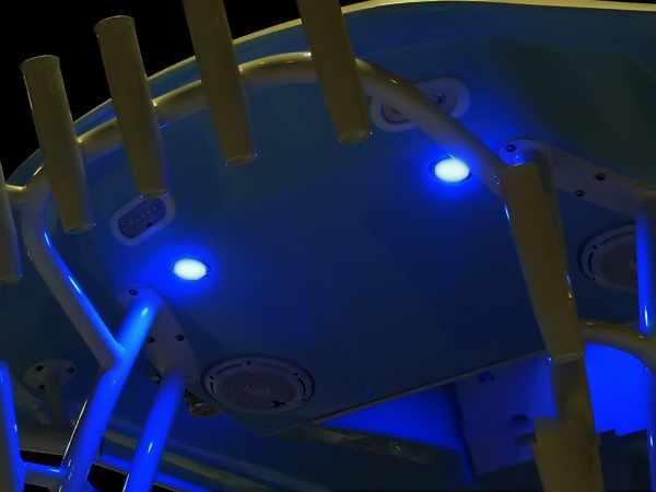 Blue LED boat deck lights