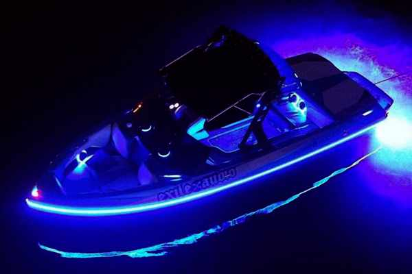 boat lights dance to music