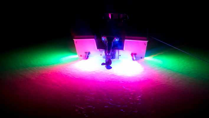 red and green led underwater boat lights