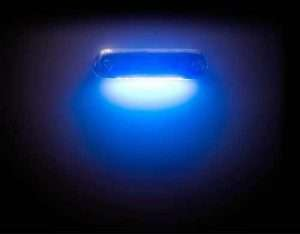 illuminated courtesy light in blue